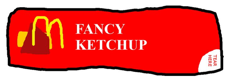 McDonald's 1995 ketchup packet by PikachuxAsh