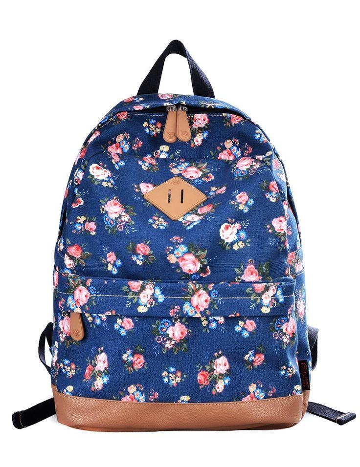 Douguyan Mädchen Schulrucksack Damen Vintage Canvas Rucksack Tasche Reiserucksack Freizeitrucksack Kinderrucksacke 133 Schwarz: Amazon.de: Koffer, Rucksäcke & Taschen