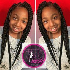 Little girl box braids … | Pinteres…