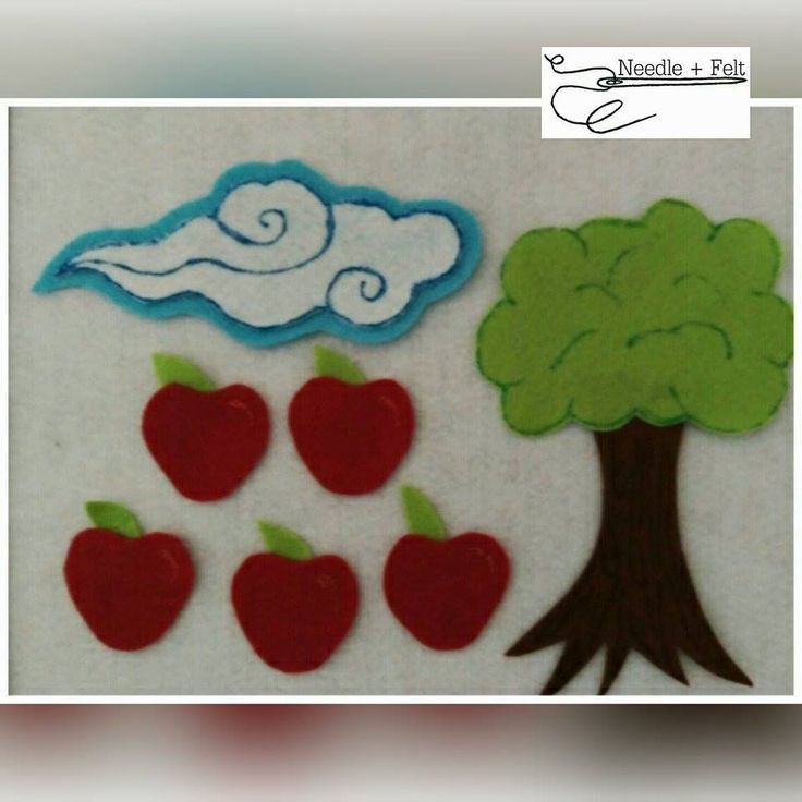 5 Red Apples felt set. This counting song is great for a transition. Exploration by little hands is encouraged!