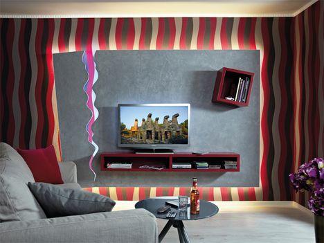 Tv wand selber bauen laminat  70 besten ТВ Bilder auf Pinterest | Tv wand, TV an der Wand und TV ...
