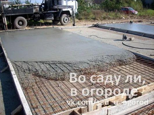 Самостоятельная заливка дачного двора бетоном   Дачники
