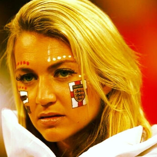 The smile that vanished #england #uruguay #worldcup #worldcup2014 #football #soccer #blond #english #girl #blond #lions #canadian #ontario #...