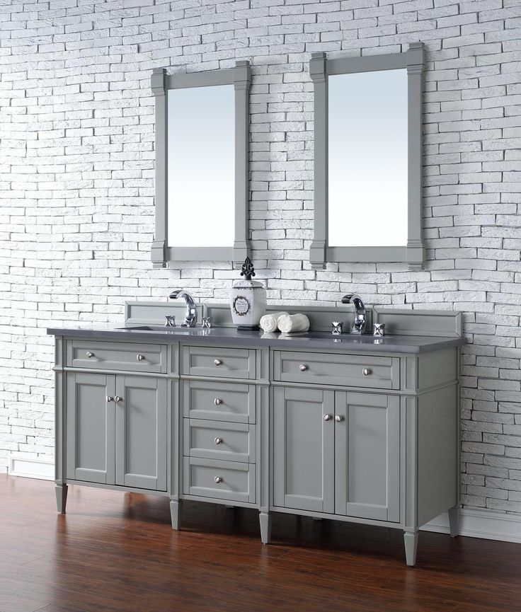 Contemporary 72 Inch Double Sink Bathroom Vanity Urban Gray Finish,  Http://bathdecoratingideas