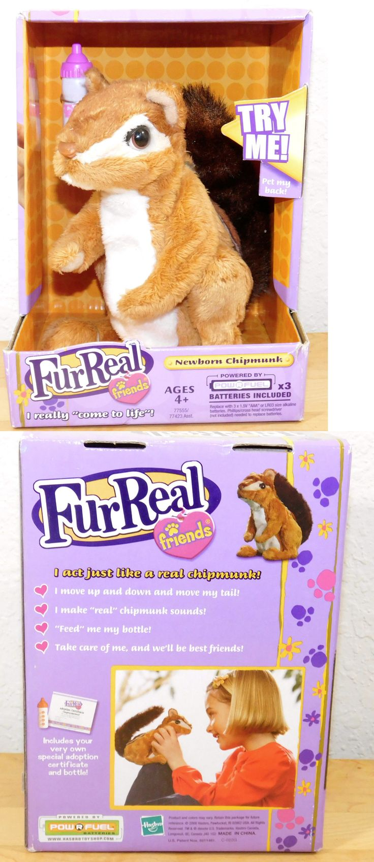 FurReal Friends 38288: 2008 Furreal Friends Newborn Chipmunk Interactive Forest Animal Hasbro New -> BUY IT NOW ONLY: $33.95 on eBay!