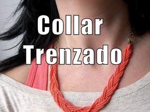 Abalorios DIY - Collar trenzado con rocalla - YouTube