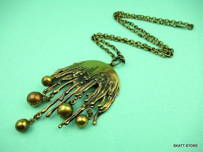 Pentti Sarpaneva melting icicles necklace in bronze