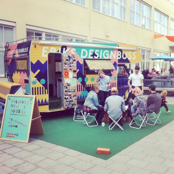 A Mobile Design Studio Hits the Road in Sweden - Pop-up design business. Makes us think-- if you cannot afford to get your message out with enough billboards, advertising etc. create a presence on wheels and park it somewhere busy!!!!! PopUp Republic