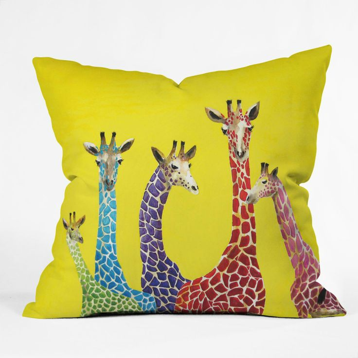Giraffe Decorative Pillow : 102 best Giraffe Home Decor and more. images on Pinterest