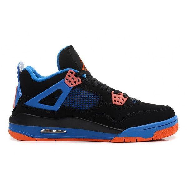 original mens air jordan 4 cavs black orange blaze old royal retro basketball shoes