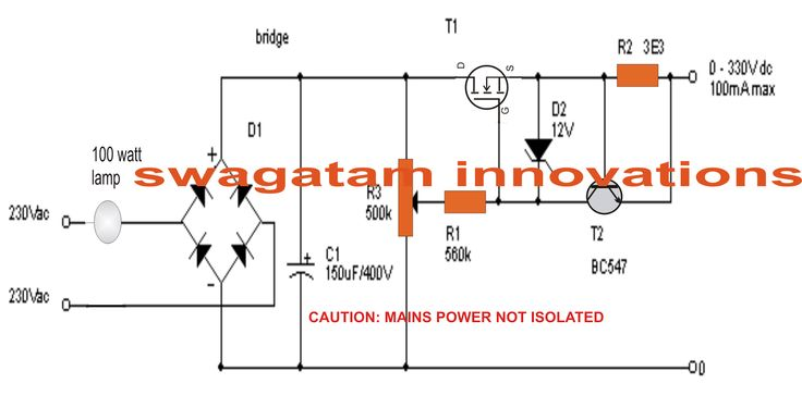 The post explains how to make a simple yet effective zero to 300 volt variable power supply circuit using very ordinary components.