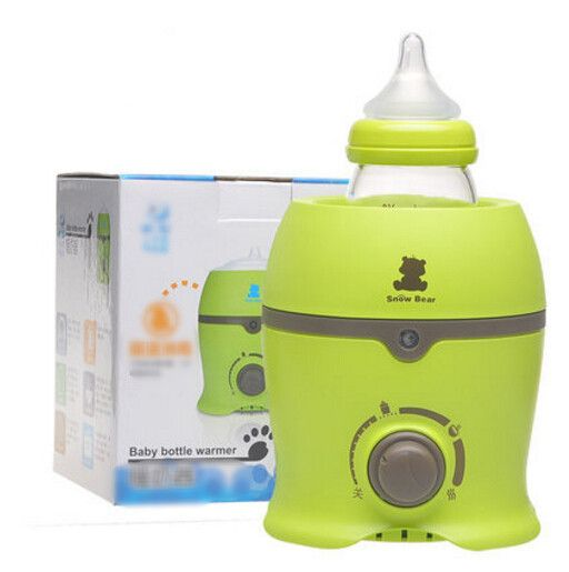 Warm your baby's bottle with our electronic, portable bottle warmer. Type: Warmers & Sterilizers Power Source: Electric Brand Name: Baby in Motion Material: P.P. Material Feature: Latex Free Material
