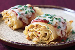 Spicy Chicken Lasagne Rollup