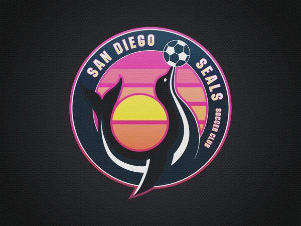 San Diego Seals SC Soccer Logo Mockup by André Araujo, via Behance #sportlogos #mls #soccerlogo #soccer #sandiego