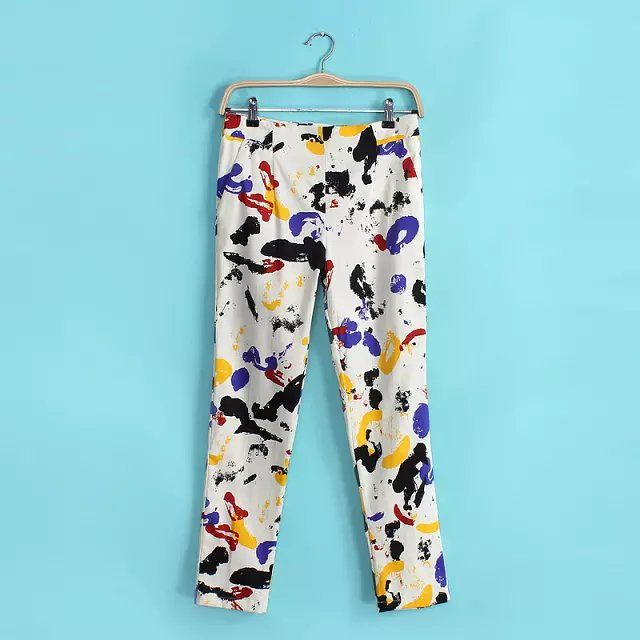 Paint Splatter Cropped Pants