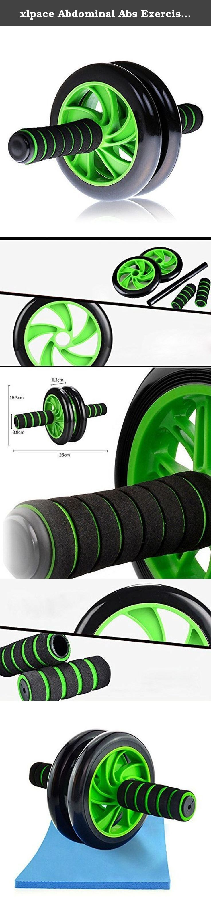 xlpace Abdominal Abs Exercise Wheel Fitness Body Gym Strength Training Roller Machine. Feature: This non-slip wheels, a compact outline and molded hold handles ThisWheel is a simple to-utilize exercise Great for adding muscle in the chest, shoulders, back and arms Ab toner has two non-skid wheels for extra stability Easy-grip handles Fits all fitness levels Defines core muscles Lightweight, portable dual-wheel design increases stability The rubber hand grips ensure safety,comfort…