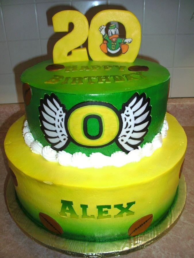 Oregon Ducks Cake Decorations