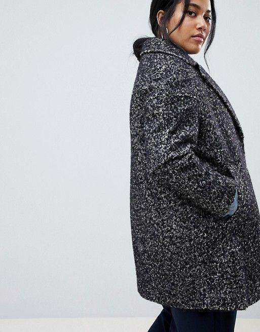 90cf551cb57 DESIGN Curve cocoon coat in texture in 2019