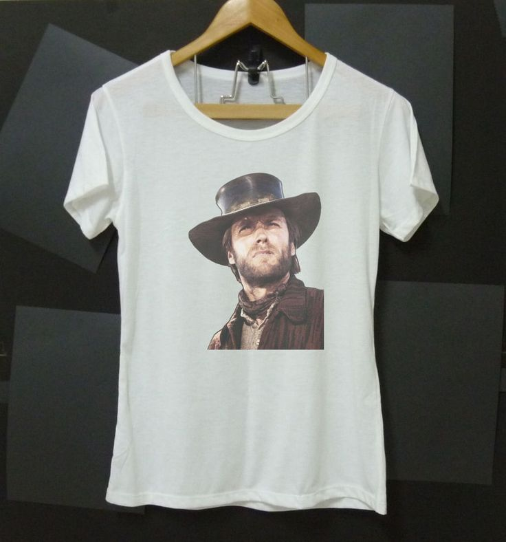 Client Eastwood shirt Actor white short sleeve crew neck women shirts S M L XL  #Unbranded #BasicTee