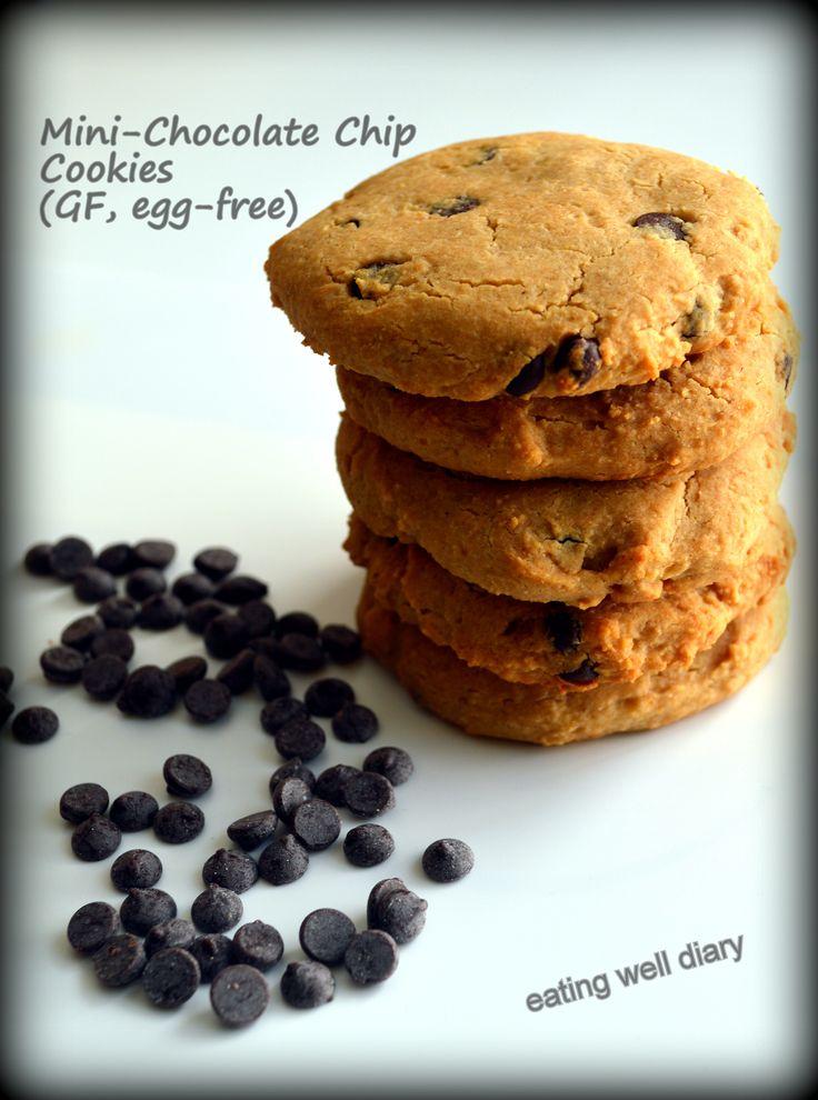 Honey sweetened Mini Chocolate Chip Cookies (gluten-free, egg-free ...