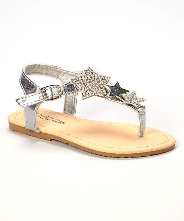 Look at this QQ Girl Silver Sophie Sandal on #zulily today!