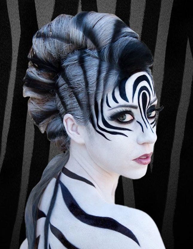 Zebra Kostüm selber machen   Kostüm Idee zu Karneval, Halloween & Fasching