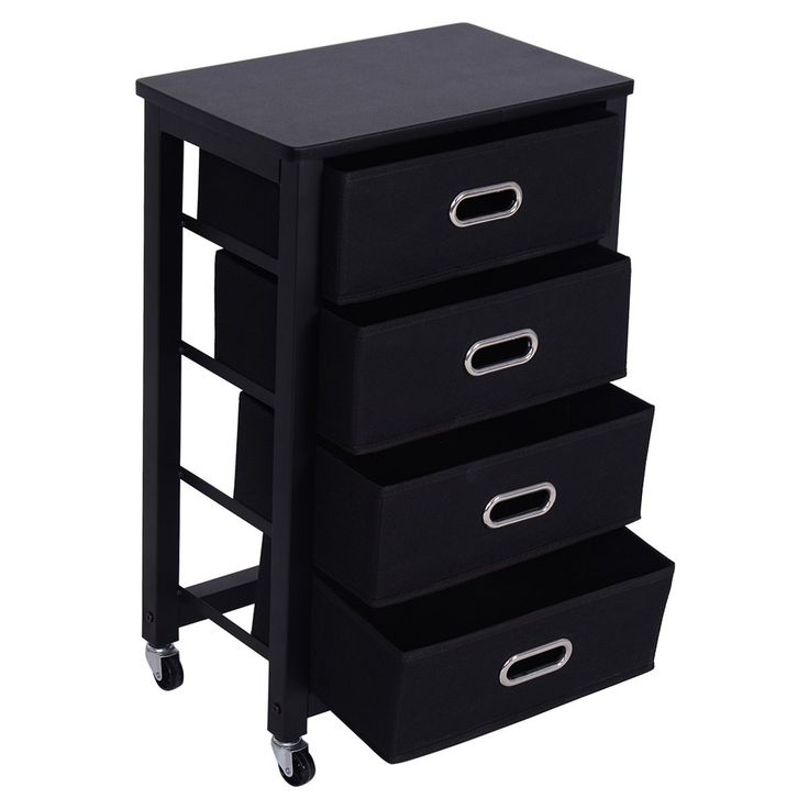 giantex rolling file cabinet heavy duty mobile storage filing cabinet w 4 drawers black