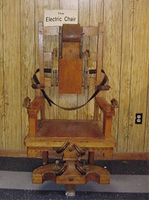 Old Sparky executed nine men before the death penalty was outlawed in West Virginia. Moundsville