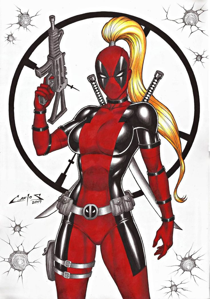 LADY DEADPOOL, COMMISSION DONE !!! by carlosbragaART80
