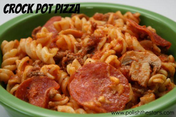 Polish The Stars: Crock Pot Pizza
