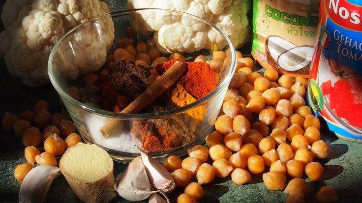 curry z kalafiora i ciecierzycy