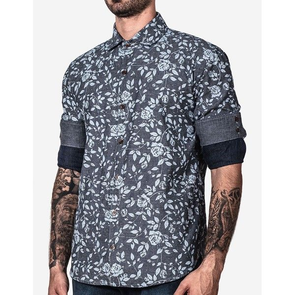 CAMISA JEANS FLORAL · Men FashionTall ClothingMen ...