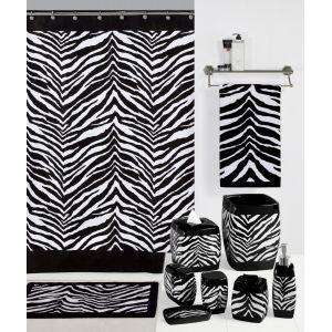 Best Zebra Print Bathroom Accessories Images On Pinterest - Animal print bathroom decor for small bathroom ideas