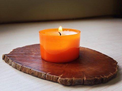 #tealight #natutal #madera #araucaria
