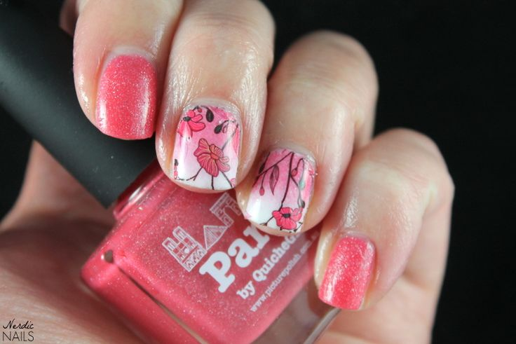 Nerdic Nails. Picture Polish - Paris water decals.