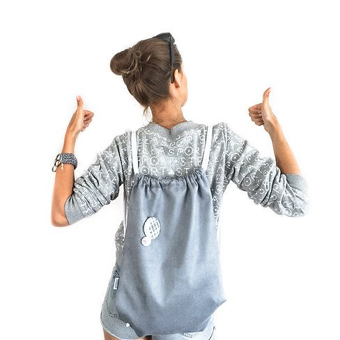 Grey Suede Backpack  #streetwear #backpack #comfy #outfit