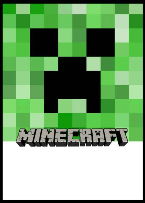 Best  Minecraft Invitations Ideas On   Mind Craft