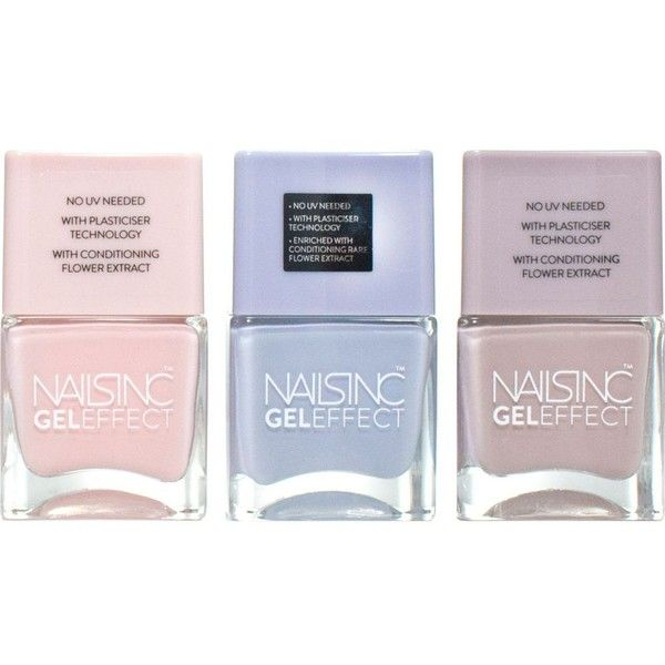 NAILS INC Pastel party collection (1250 TWD) ❤ liked on Polyvore featuring beauty products, nail care, nail polish, makeup, nail, nails inc nail polish, nails inc., shiny nail polish and gel nail polish