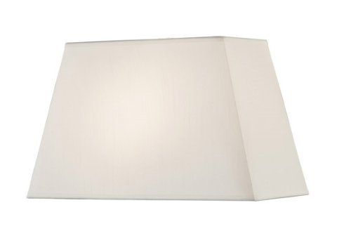 Artiva USA Perry, 12.5-Inch Tall Premium Empire Rectangular Lamp Shade w/ Hardback and Spider Fitter - Off-white * Final call for this special discount  : Decor Lamp Shades