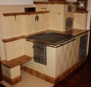 Old ceramic stove - piec