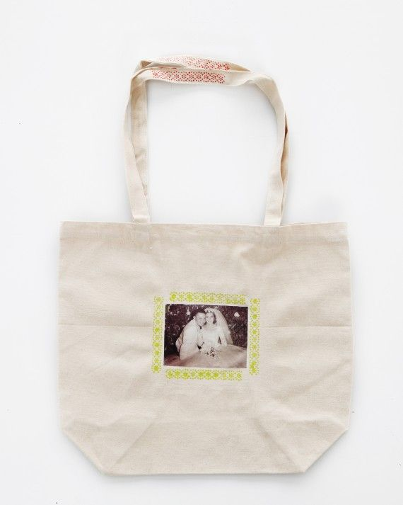 Keep cherished memories within arm's reach by decorating a plain canvas tote bag with photos of the first day of school, a milestone birthday, or a favorite family vacation. Get the Personalized Tote Bag How To