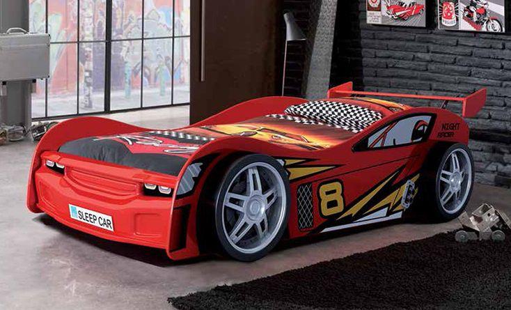 Cama coche car rojo cama juvenil o infantil. Decoración Giménez