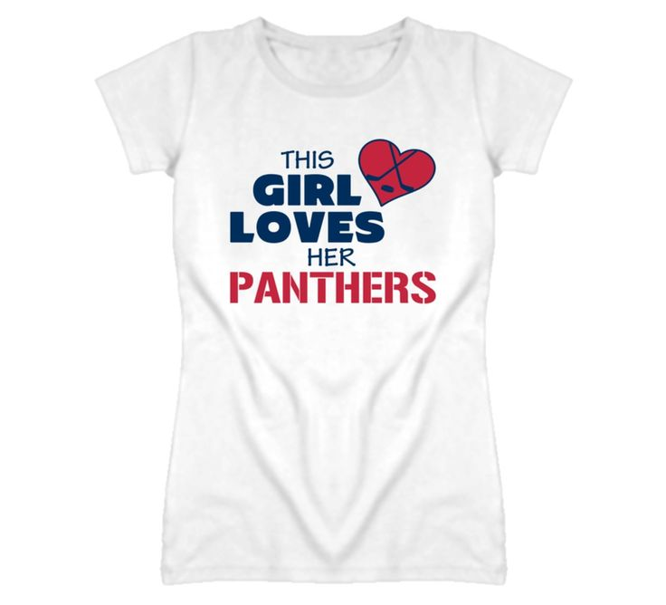 Youth This Girl Loves Her Panthers Hockey T-Shirt