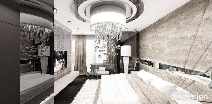 FEMME FATALE | II | Wnętrza apartamentu - luksusowa aranżacja sypialni w stylu glamour