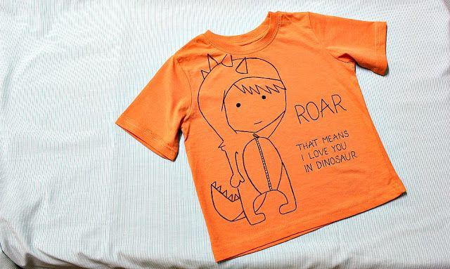 Dinosaur boy t-shirt, ROAR