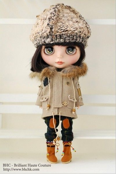 BHC FN594 Travelling Winter dress set for Kenner Blythe doll - dress /outfit