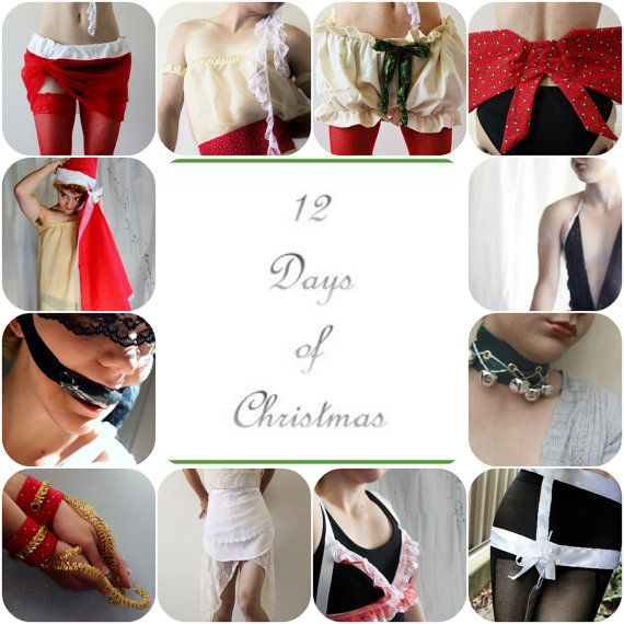ON SALE 12 Days of Christmas: Pattern Book with 12 Sewing Patterns for various Lingerie-style items