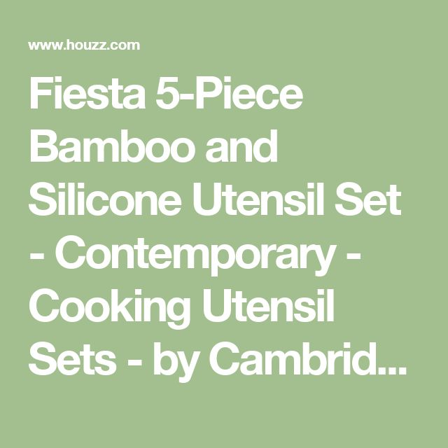Fiesta 5-Piece Bamboo and Silicone Utensil Set - Contemporary - Cooking Utensil Sets - by Cambridge Silversmiths, Ltd.
