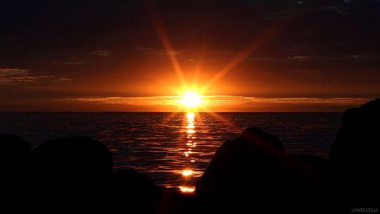 Animazione mare al tramonto, SIFCO mare al tramonto sfondo