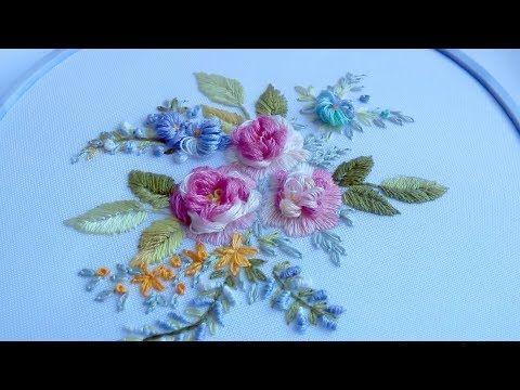 МИНИ ВЫШИВКА \ MINI HAND EMBROIDERY buttonhole stitch - YouTube